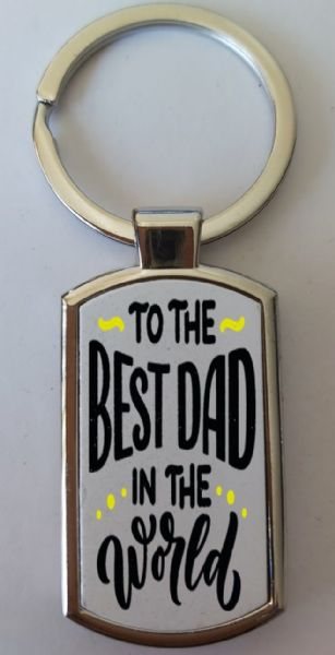 Father's Day Metal Rectangle Key Ring Design 29